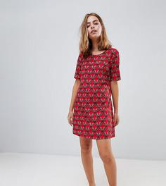 Платье с цветочным принтом Glamorous Petite - Красный