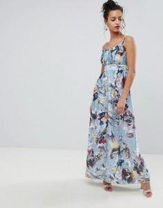 Платье макси с цветочным принтом Little Mistress - Мульти