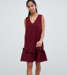 Платье без рукавов с оборкой Vero Moda Petite - Красный