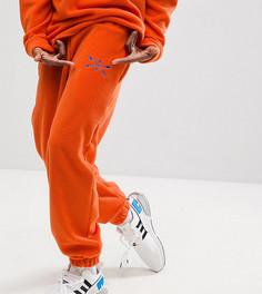 Оранжевые флисовые брюки Reclaimed Vintage Inspired - Оранжевый