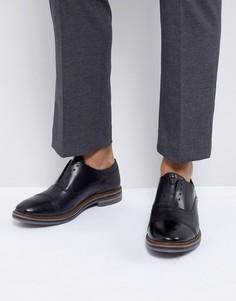 Черные кожаные оксфорды Base London - Черный