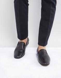 Черные строгие кожаные лоферы Zign - Черный