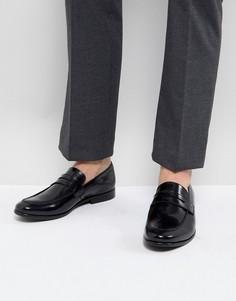 Черные кожаные пенни-лоферы Zign - Черный