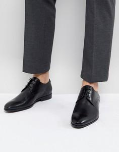 Черные кожаные туфли на шнуровке Zign - Черный