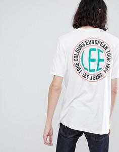 Белая футболка с логотипом и принтом на спине Lee - Белый