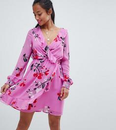 Платье с запахом и цветочным принтом Vero Moda Petite - Мульти