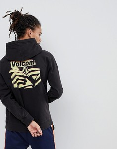 Худи с принтом на спине Volcom - Черный