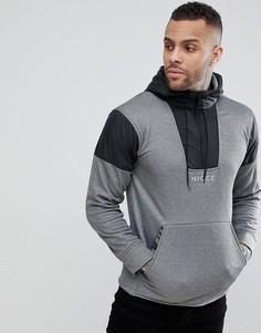Серый спортивный худи с молнией Nicce London - Серый