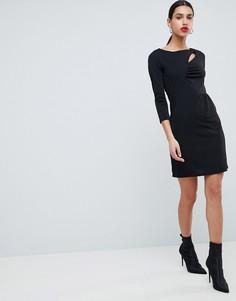Облегающее платье с вырезами Morgan - Черный