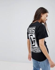 Черная футболка с принтом на спине Vans - Черный
