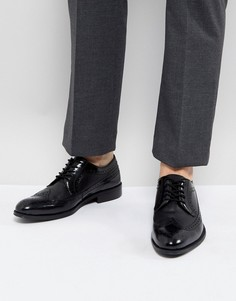 Черные кожаные броги Zign - Черный