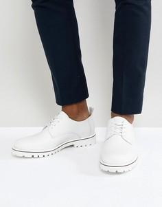 Белые кожаные туфли на шнуровке Zign - Белый