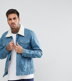 Джинсовая куртка с воротником борг Brooklyn Supply Co. - Фиолетовый