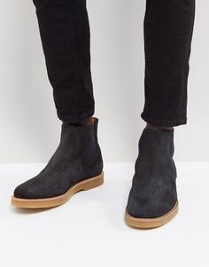 Темно-серые замшевые ботинки челси BOSS - Серый