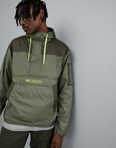 Зеленая легкая складываемая куртка с капюшоном Columbia Challenger - Зеленый
