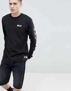 Черный лонгслив HUF x Felix The Cat - Черный