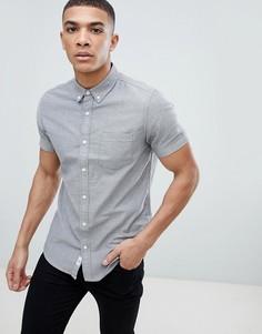 Серая фактурная оксфордская рубашка Burton Menswear - Серый
