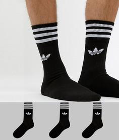 3 пары черных носков adidas Originals S21490 - Черный