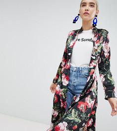 Платье-рубашка макси с цветочным принтом Boohoo - Мульти
