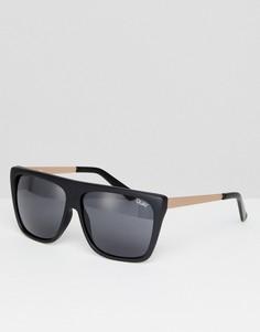 Черные квадратные солнцезащитные очки Quay Australia OTL II - Черный