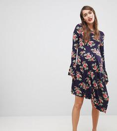 Платье мини с цветочным принтом и оборками ASOS MATERNITY - Мульти
