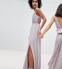 Платье макси с плиссировкой TFNC - Серый
