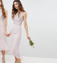 Платье миди со шнуровкой на спине TFNC - Коричневый