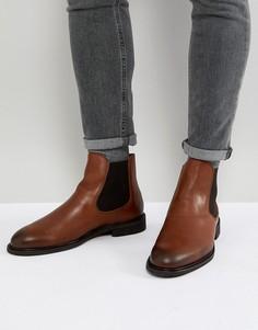 Кожаные ботинки челси Selected Homme - Коричневый