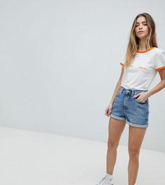 Голубые джинсовые шорты в винтажном стиле ASOS DESIGN Petite - Синий