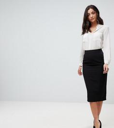 Комбинируемая юбка-карандаш с завышенной талией ASOS TALL - Черный