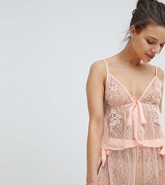 Пижама с цветочной аппликацией Wolf & Whistle - Розовый