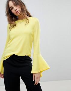 Джемпер с расклешенными рукавами Only - Желтый