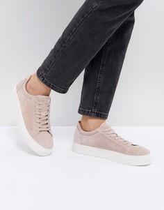Замшевые кроссовки Selected - Розовый
