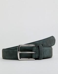Зеленый замшевый ремень Burton Menswear - Зеленый