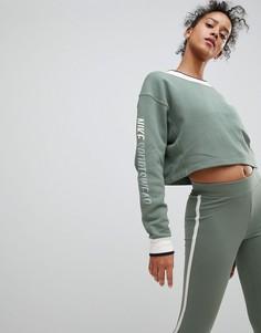 Зеленый двусторонний свитшот Nike Archive - Зеленый