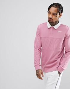 Розовая футболка-поло с длинными рукавами NNike SB 885847-678 - Розовый
