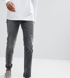 Черные джинсы скинни с выбеленным эффектом ASOS TALL - Черный