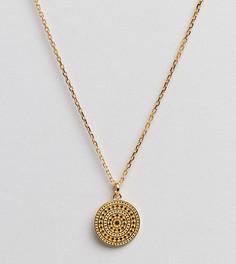 Ожерелье с золотым покрытием 14 кар. и подвеской Carrie Elizabeth - Золотой