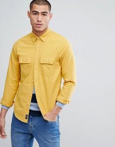 Желтая хлопковая рубашка классического кроя Abercrombie & Fitch Chamois - Желтый