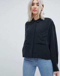 Укороченная блузка Weekday - Черный