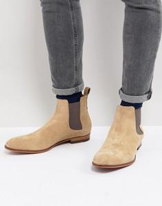 Бежевые замшевые ботинки челси HUGO - Бежевый