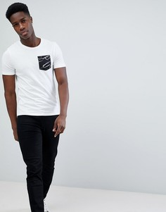 Футболка с контрастным карманом Only & Sons - Белый