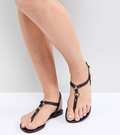 Сандалии для широкой стопы из искусственной кожи New Look - Черный