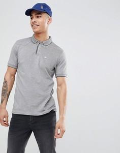 Серая футболка-поло с молнией Luke 1977 - Серый