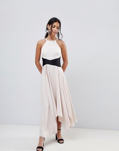 Асимметричное платье макси Coast - Розовый