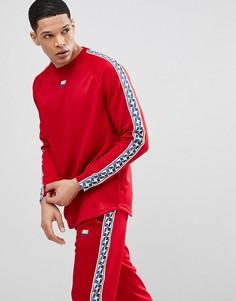 Красный лонгслив с отделкой лентой Nike AJ2298-687 - Красный