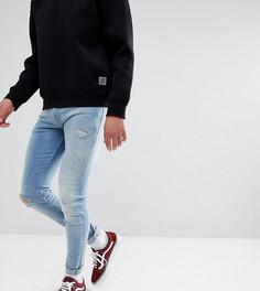 Светлые джинсы скинни с рваной отделкой Just Junkies Max - Синий