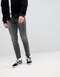 Черные выбеленные джинсы скинни в винтажном стиле ASOS - Черный