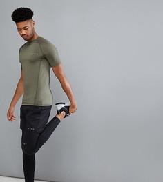 Обтягивающая футболка из быстросохнущей ткани цвета хаки ASOS 4505 TALL - Зеленый