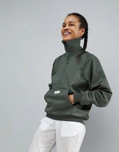 Куртка с воротом и манжетами в рубчик ASOS 4505 - Зеленый